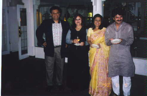 "Main character of ""Ek Bijane Gamta Rahiye""  J.D. and His wife With Nitin, Nina Vyas !!!"