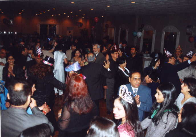 People Enjoying  the Party