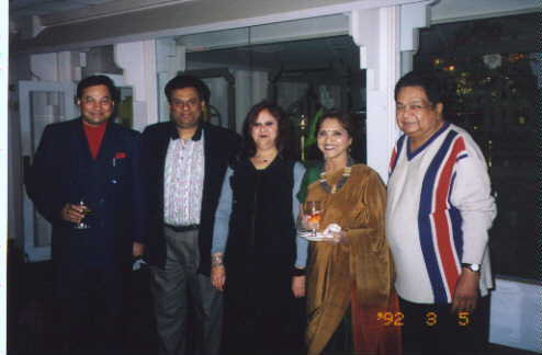 PadmaRani, Mahendra Trivedi, & Naresh Patel From London With Nitin, Nina Vyas !!!